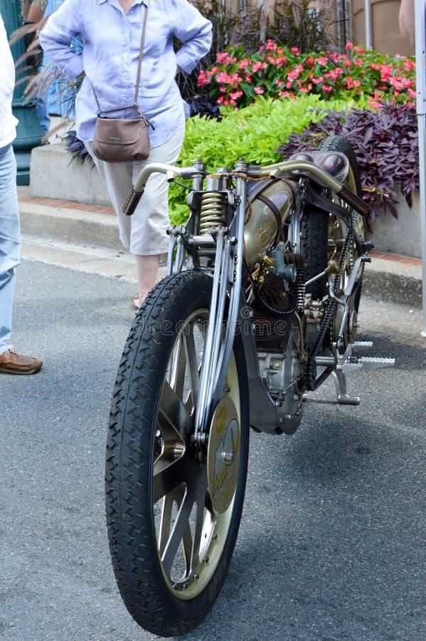 Antieke motorfiets stock fotografie