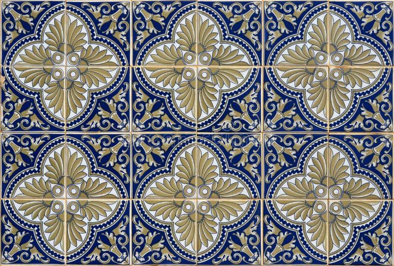 Antieke naadloze Portugese Tegels royalty-vrije stock afbeeldingen