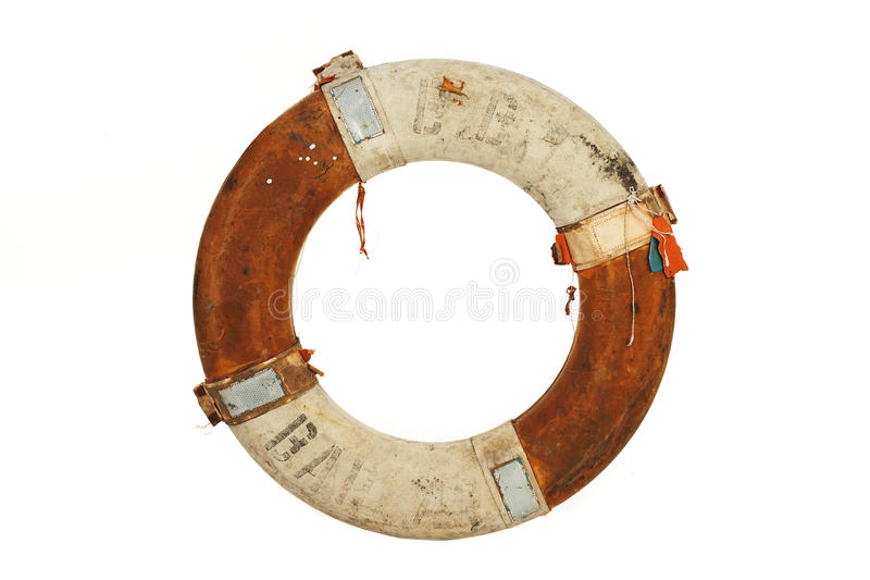 Antieke reddingsgordel stock afbeelding