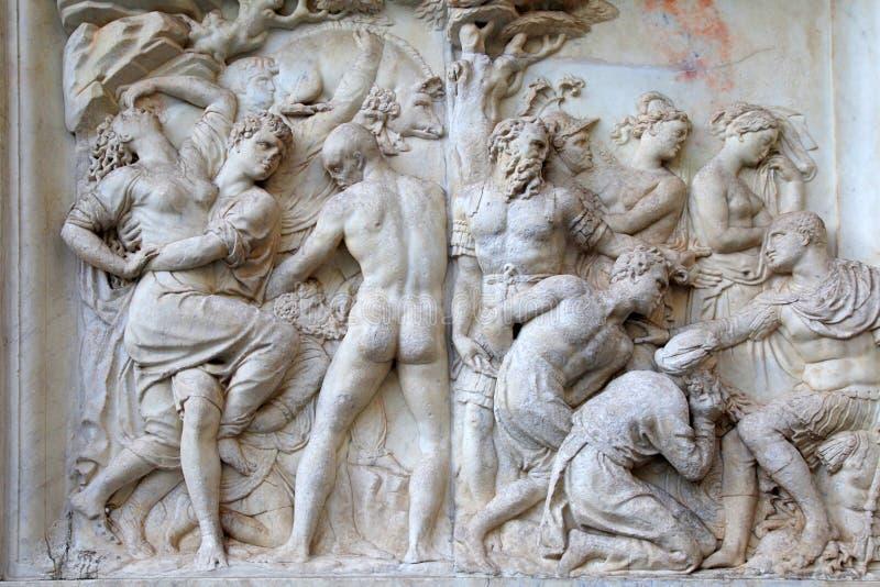 Antieke roman hulp, Florence, Italië royalty-vrije stock afbeelding