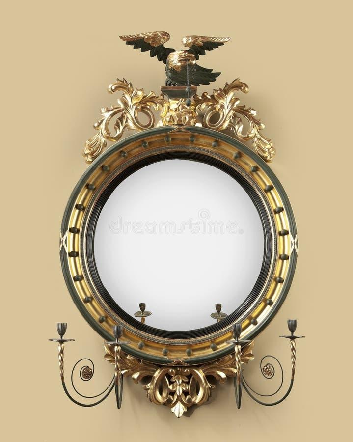 Antieke ronde zaalspiegel royalty-vrije stock foto
