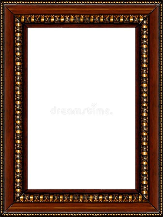Antieke rustieke houten geïsoleerde1 omlijsting royalty-vrije stock fotografie