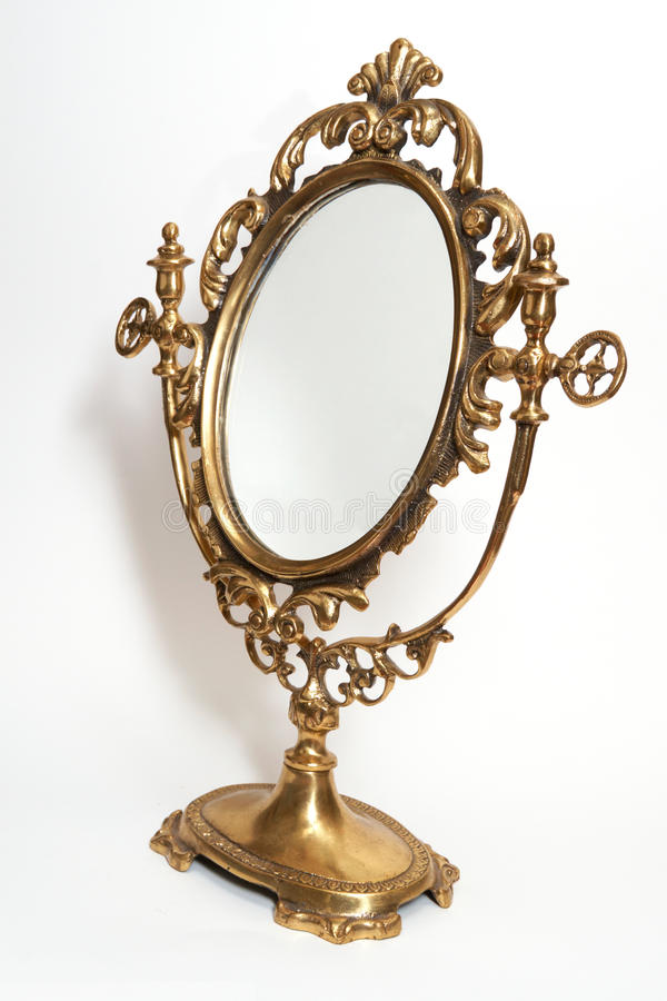 Antieke spiegel royalty-vrije stock fotografie