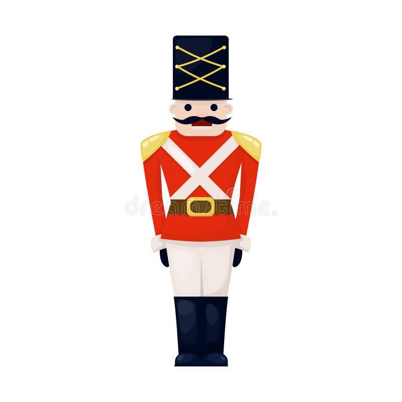 Antieke stuk speelgoed uitstekende van het de kinderjaren oude leuke militaire traditionele karakter van de tinmilitair van de Ke royalty-vrije illustratie