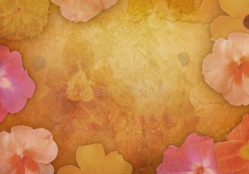 Antieke Uitstekende Bloem Backgound royalty-vrije illustratie