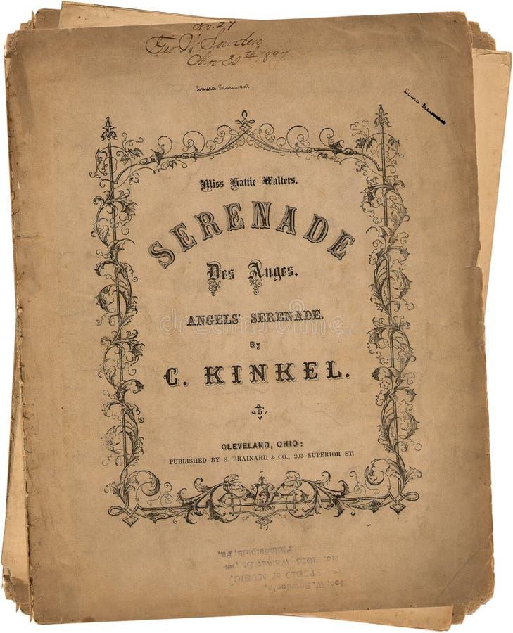 Antieke Uitstekende document liedbladen stock afbeelding