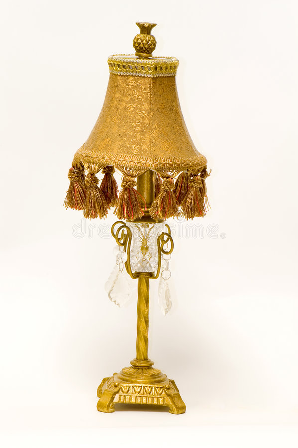 Antieke Victoriaanse bureaulamp royalty-vrije stock foto