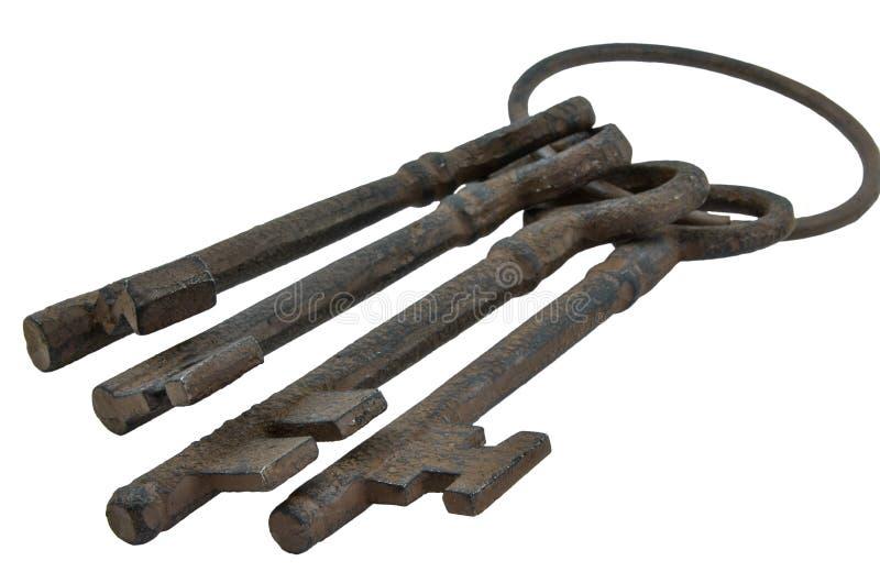 Antieke Victoriaanse Sleutels stock afbeelding