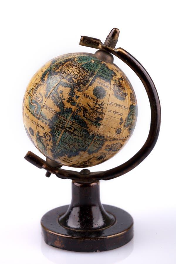 Antieke wereldbol stock fotografie