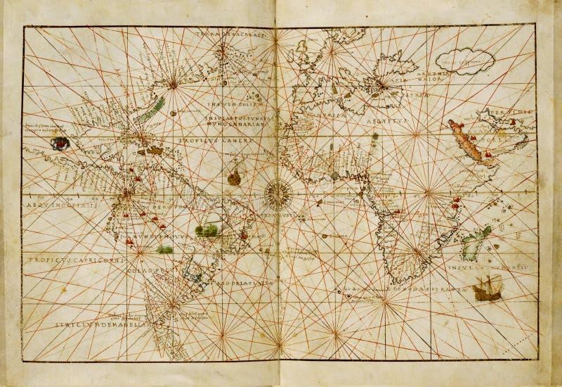Download Antieke wereldkaart stock foto. Afbeelding bestaande uit onderzoek - 10780006