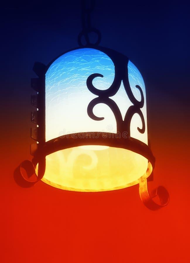 Antieke Wijnoogst Gesmede Lamp royalty-vrije stock fotografie