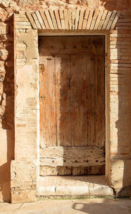 Antieke zachte deur -, pastelkleurkleuren royalty-vrije stock fotografie