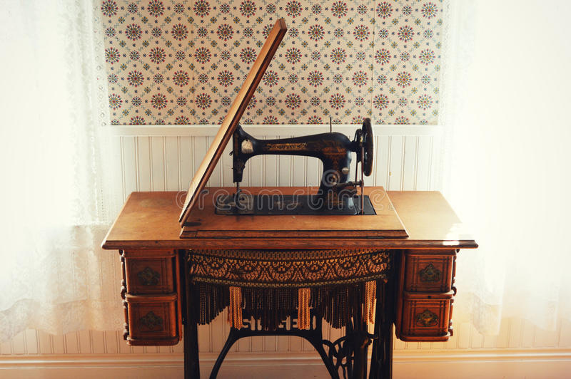 Antieke Zanger Sewing Machine stock afbeelding