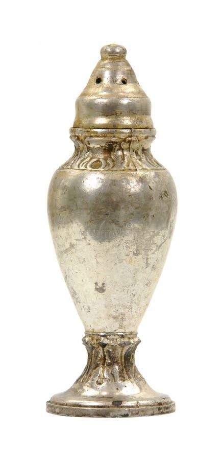 Antieke zout of peperschudbeker stock afbeelding