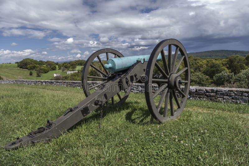 Antietam战场最后的攻击站点 库存照片