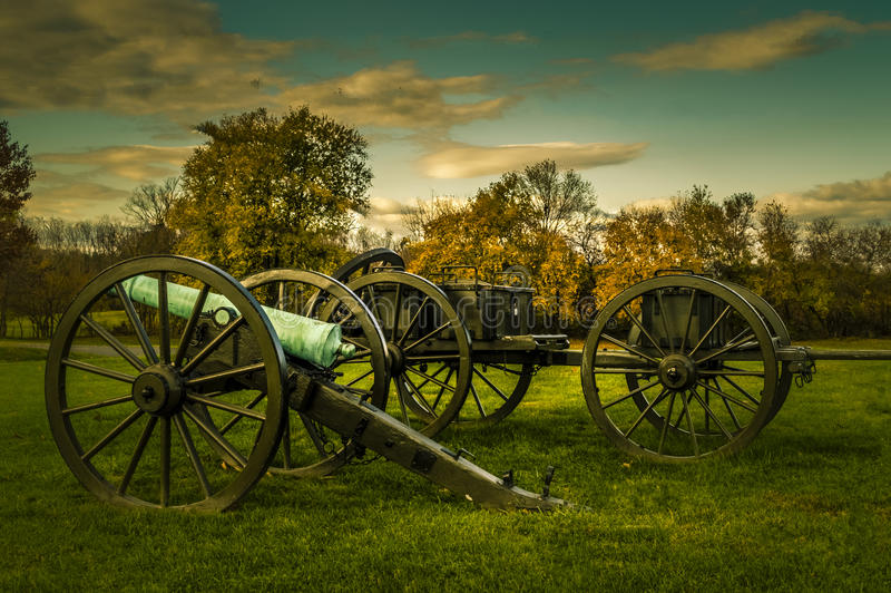 Antietam Battlefield Cannons. Civil War Cannons at Antietam Battlefield Sharpsburg MD Fall Season of the year royalty free stock photo
