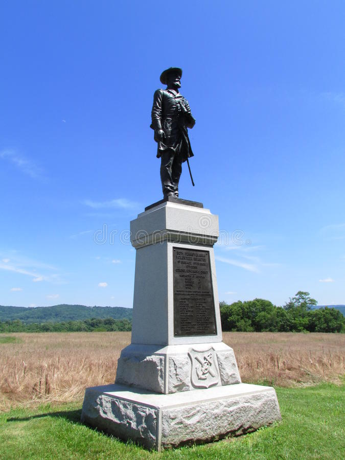 Antietam Battlefield Colonel Christ Monument stock image