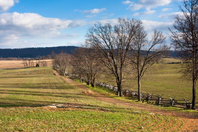 Antietam Battlefield Landscape in Autumn. Landscape image of Antietam Battlefield on a sunny, autumn afternoon near Sharpsburg, Maryland, USA royalty free stock photos