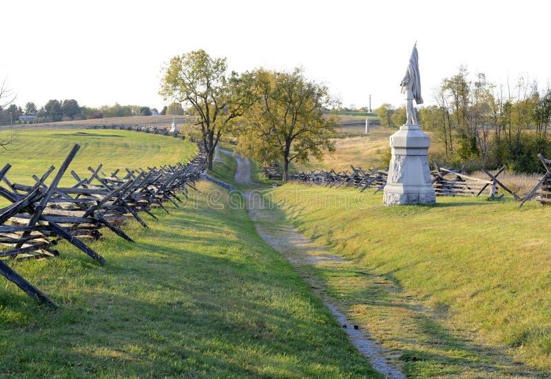 Antietam Krajowy pole bitwy, Maryland zdjęcia royalty free