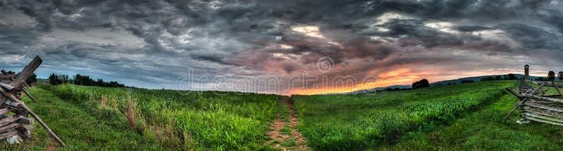 Antietam Kukurydzanego pola panorama zdjęcie stock