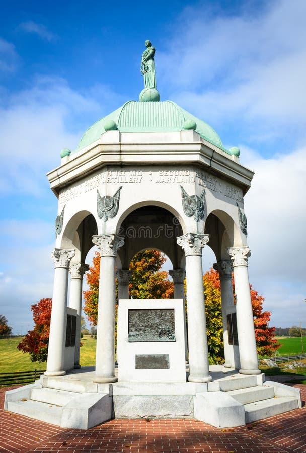 Antietam National Battlefield. Monument Copper stock photo