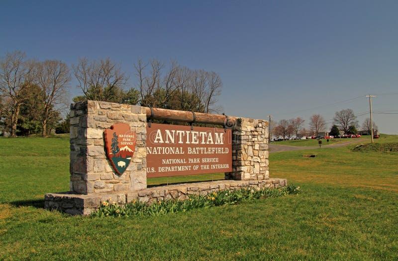 Antietam pola bitwy Krajowy znak fotografia royalty free