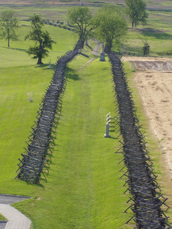 Antietam. A view of part of the Antietam, Maryland battlefield royalty free stock images