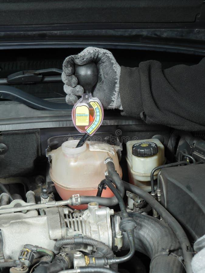 Antifreeze coolant mrozu ochrony test zdjęcia royalty free