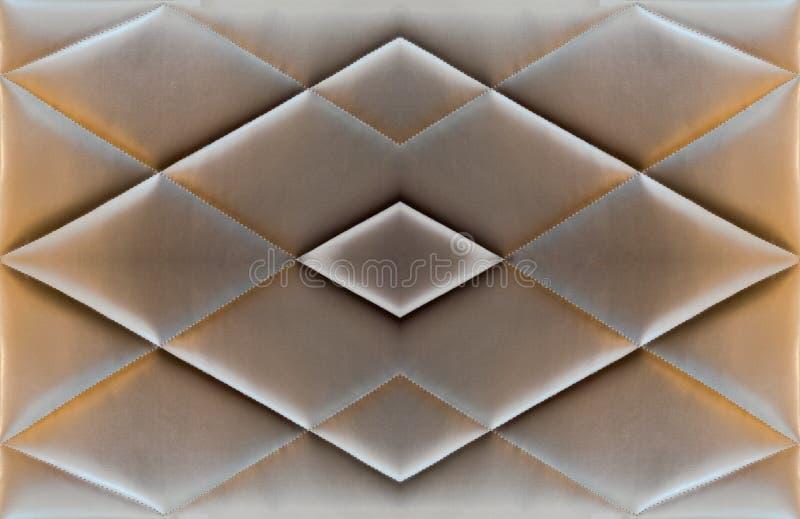 Antigüedad de cuero marrón del colchón del cojín del sofá de la textura imagen de archivo libre de regalías