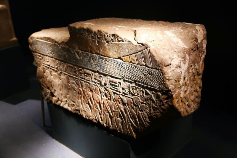 Antigüedad dentro del museo Egipto de Luxor fotos de archivo libres de regalías