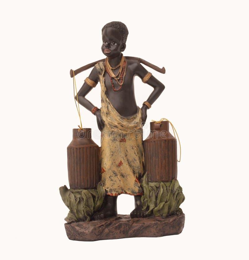 Antigüedad etíope del vendedor del agua imagenes de archivo
