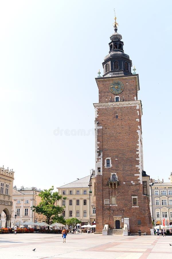 Antiga câmara municipal em Krakow imagens de stock