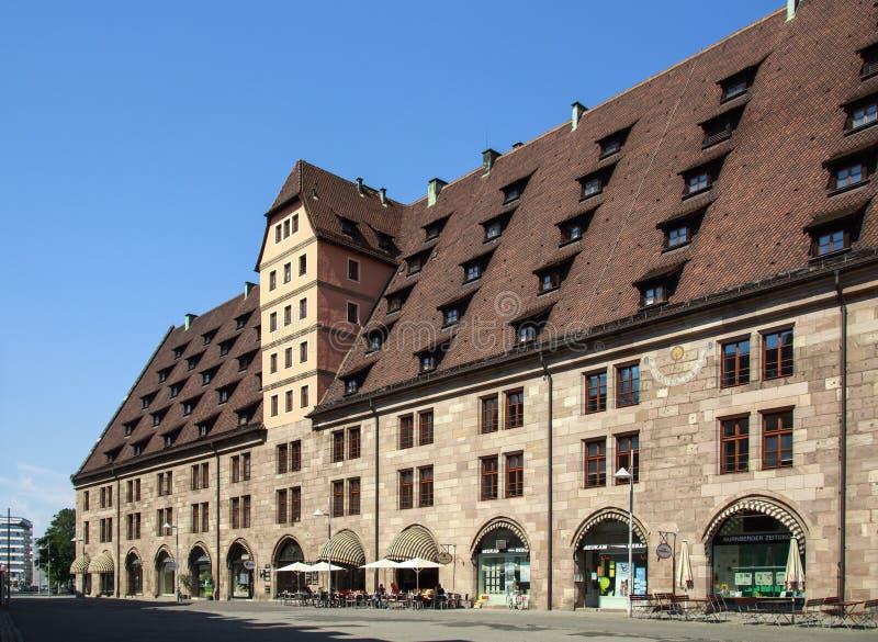 Antiga casa de alfândega em Nuremberg, Alemanha, 2015 fotografia de stock royalty free