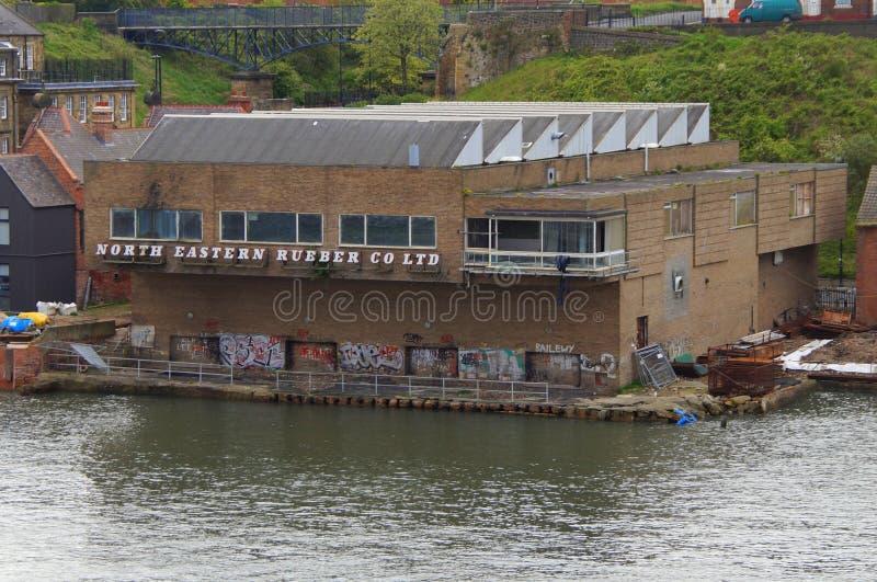 Antiga fábrica do empresa lda de borracha do leste norte imagens de stock royalty free