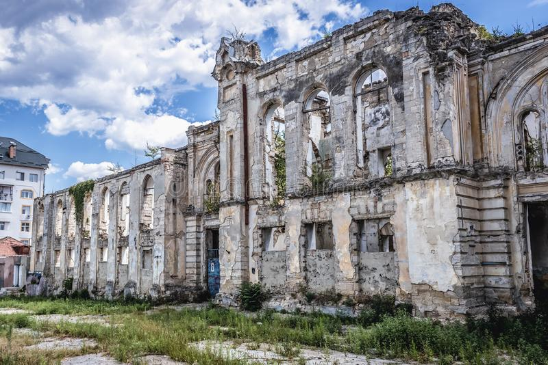 Antiga sinagoga em Chisinau imagens de stock royalty free