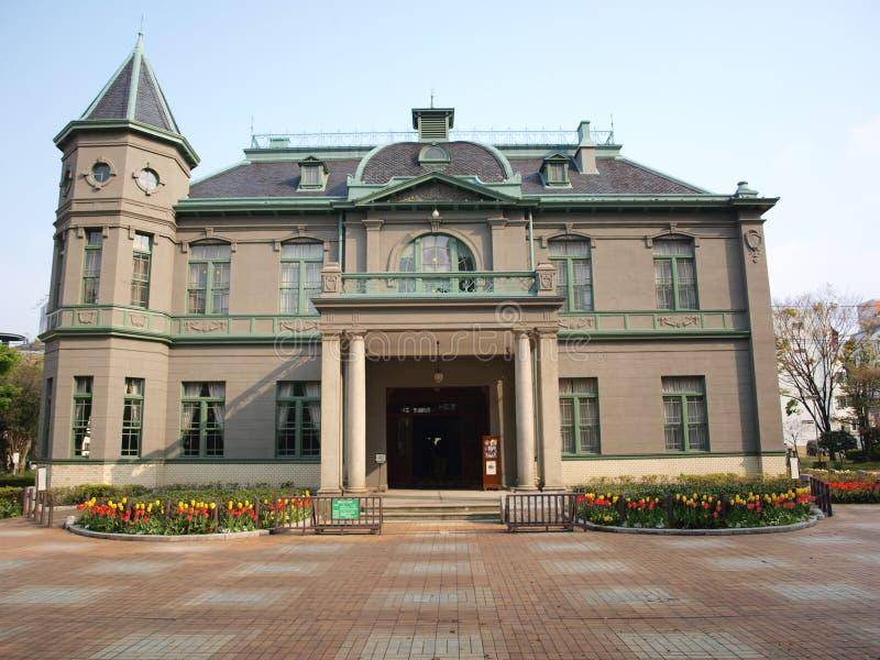 Antigo Fukuoka salão público em Fukuoka, Japão imagens de stock