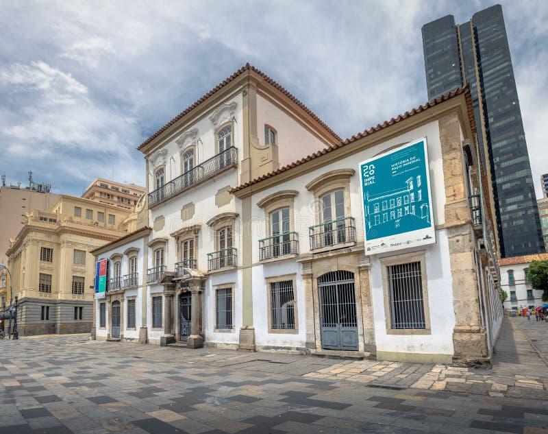Antigo palácio imperial de Paco Imperial Cultural Center - Rio de janeiro, Brasil fotografia de stock