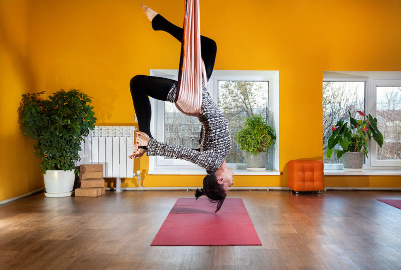 download antigravity hammock yoga stock photo  image of beauty   86146048 antigravity hammock yoga stock photo  image of beauty   86146048  rh   dreamstime