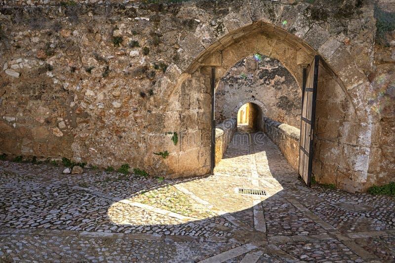 Antigua aldea medieval española foto de archivo libre de regalías