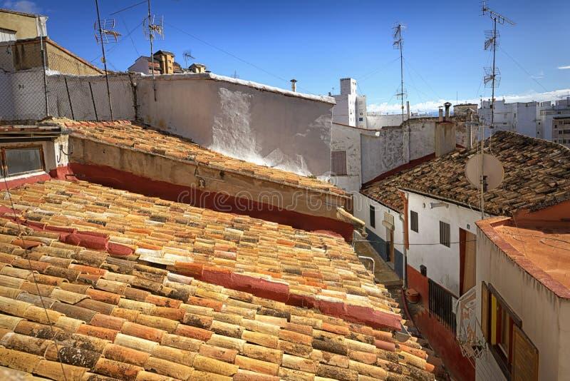 Antigua aldea medieval española fotografía de archivo
