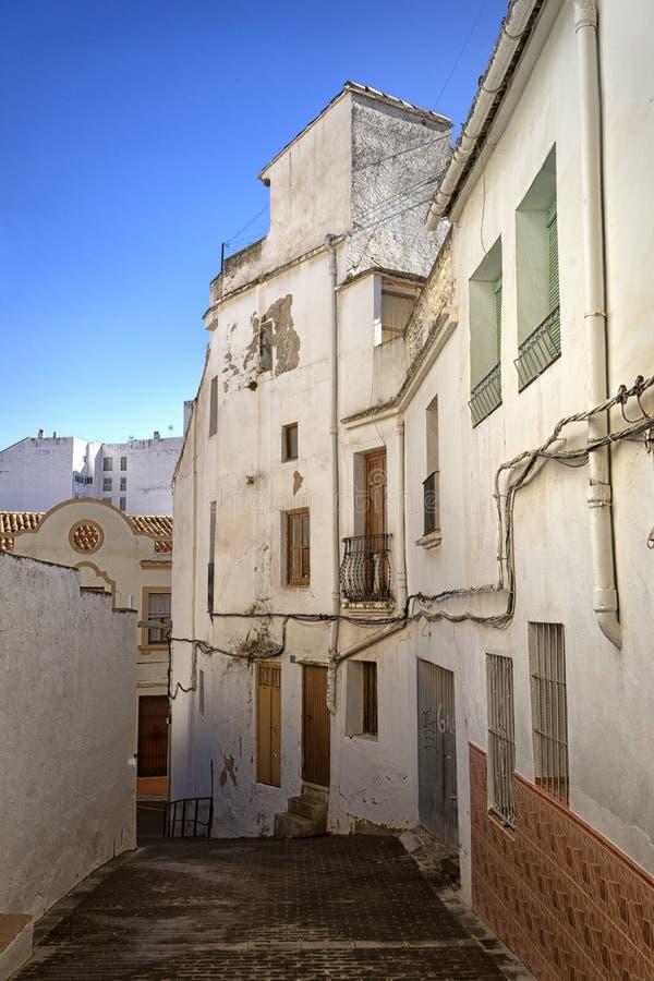 Antigua aldea medieval española foto de archivo