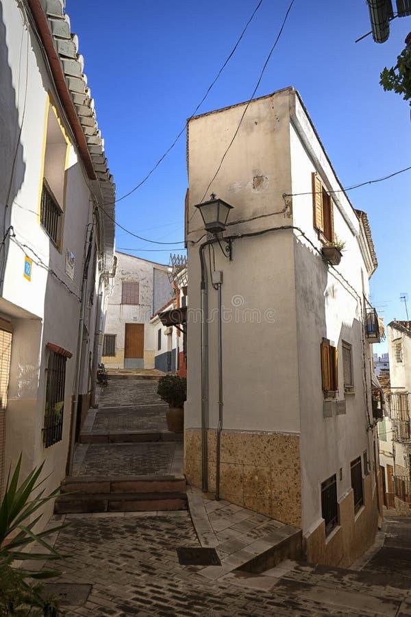 Antigua aldea medieval española imagenes de archivo