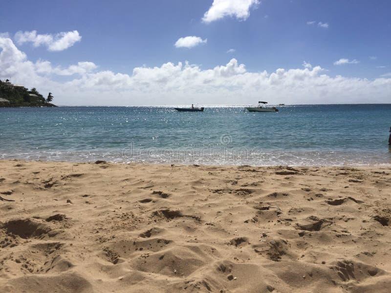 Antigua and Barbuda beach. Sand sun royalty free stock photos