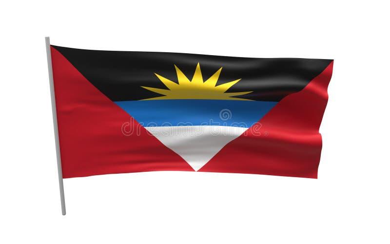 antigua barbuda flagga royaltyfri illustrationer