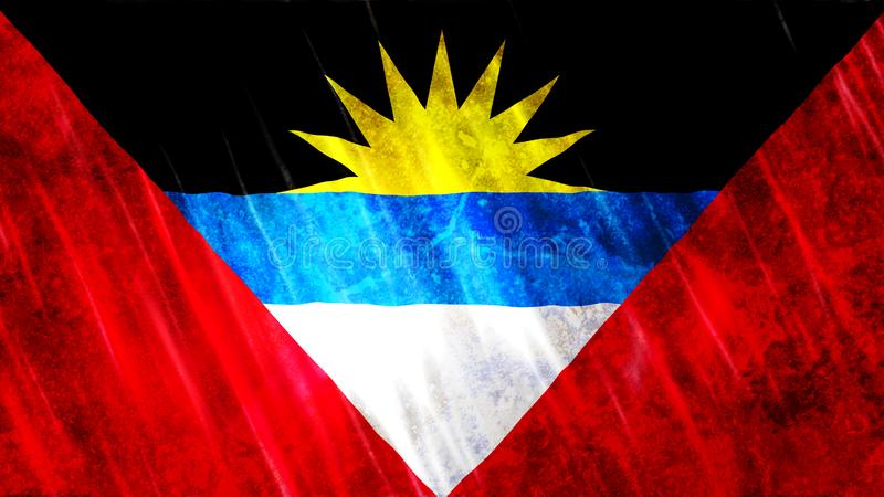 antigua barbuda flagga royaltyfria foton