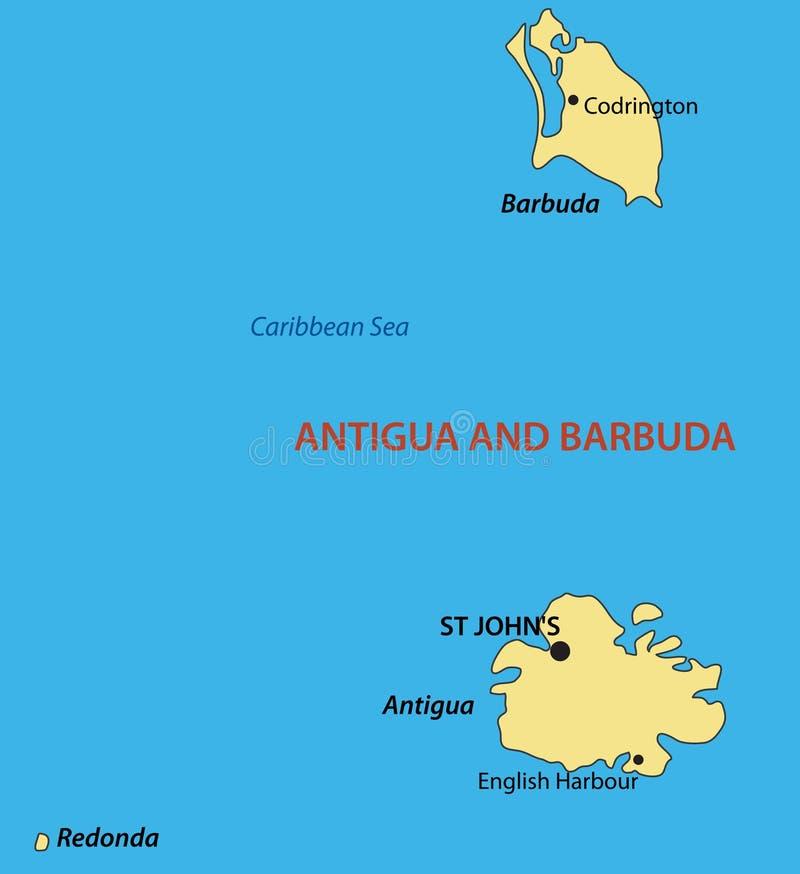 Antigua And Barbuda Vector Map Stock Vector Illustration of