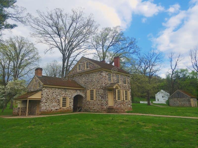 Antigua casa de George Washington en Valley Forge, Pennsylvania imágenes de archivo libres de regalías
