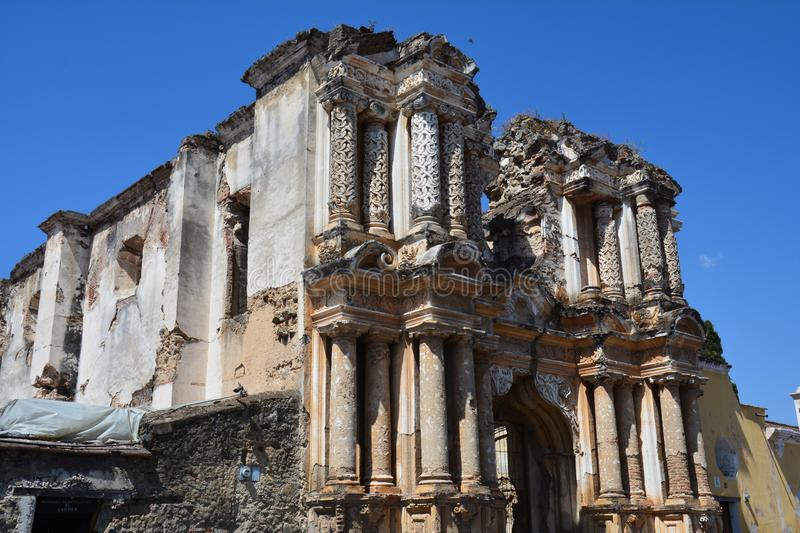 Antigua Colorful Old Town In Guatemala royalty free stock photos