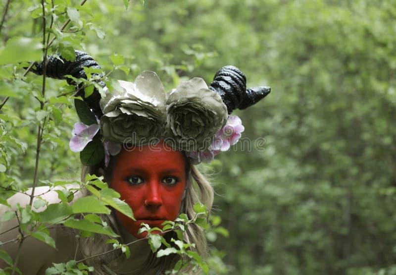 Antigua diosa del bosque imagen de archivo libre de regalías