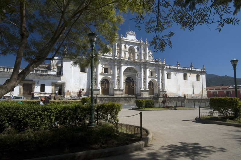 antigua domkyrka guatemala jose san royaltyfri fotografi
